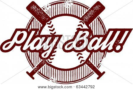 Vintage Baseball or Softball Stamp Design