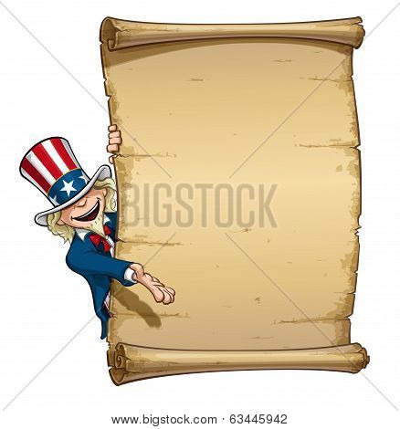 Uncle Sam Showing At Declaration