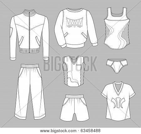 Man Set Tricot Clothes