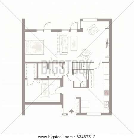 vector drawing of building