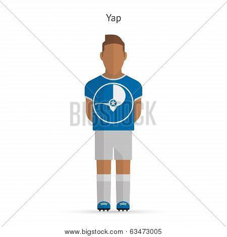 Yap football player. Soccer uniform.