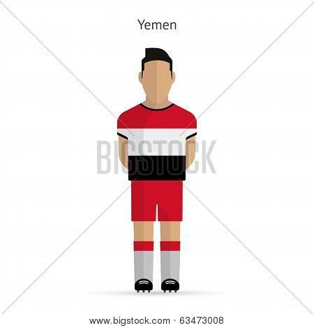 Yemen football player. Soccer uniform.