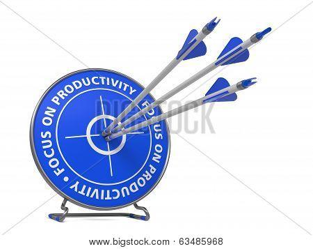 Focus on Productivity Concept - Hit Target.