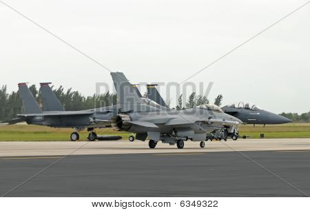 Jetfighters On The Ground