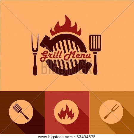 grill menu design elements