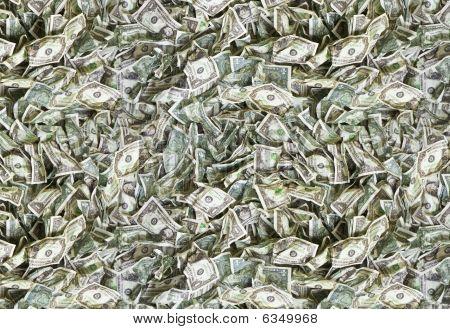 One Dollar Bill Texture Offset