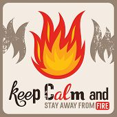 Fire Safety Sign in old style abstract vector illustration poster