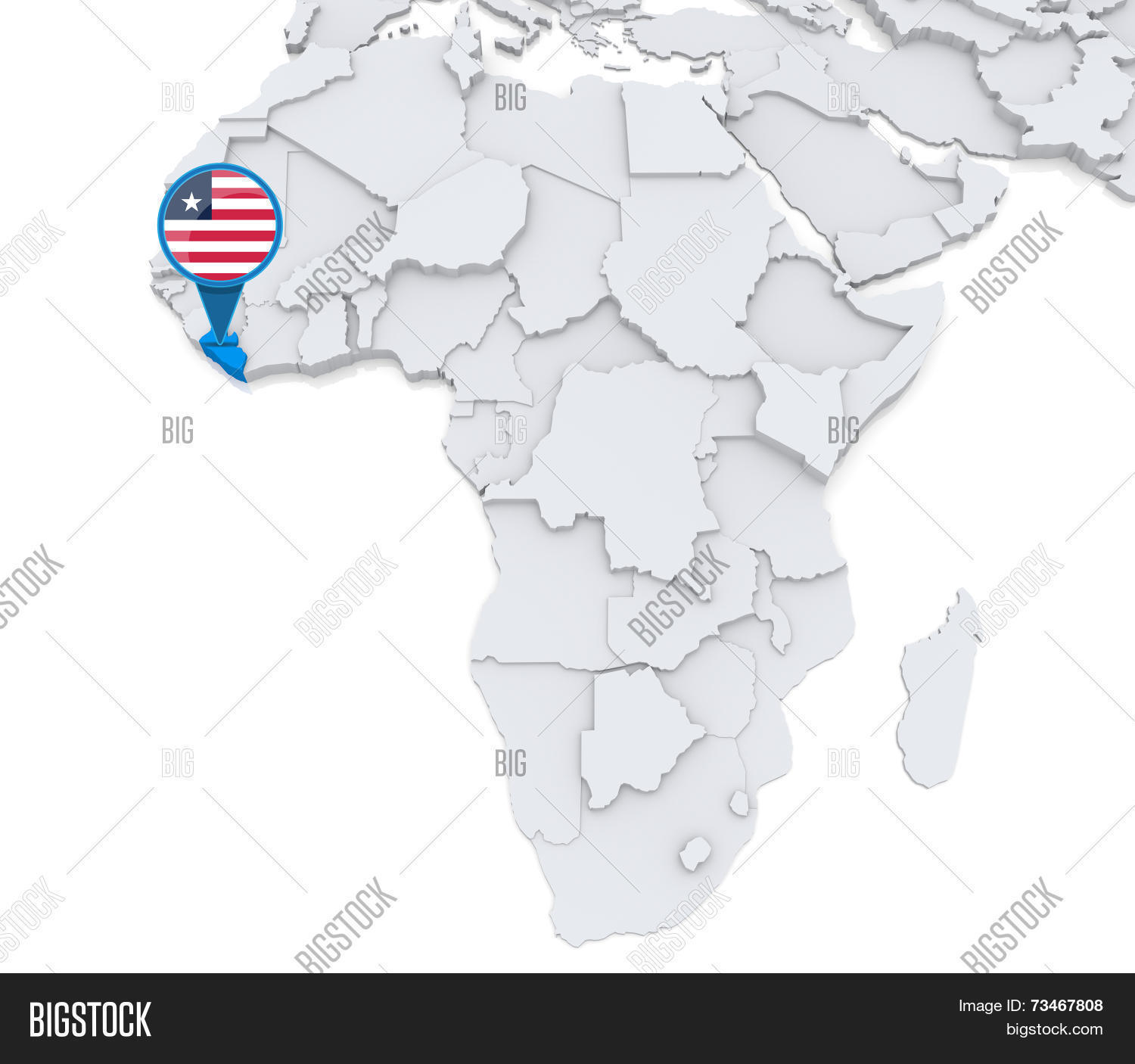 Image of: Liberia On Map Africa Image Photo Free Trial Bigstock