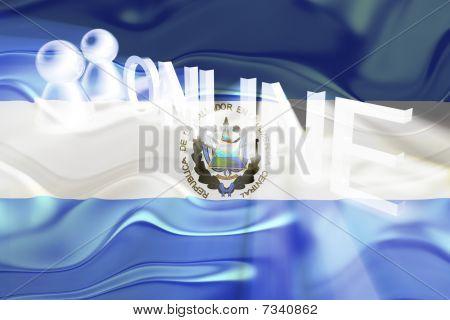 Flag Of El Salvador Wavy Online