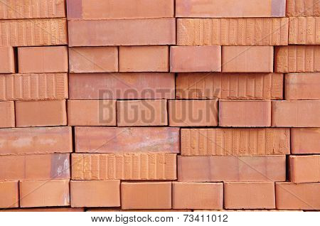 Big Pile Of New Bricks