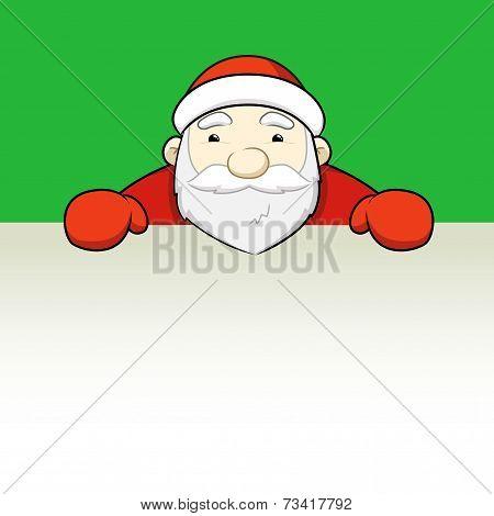 Santa Claus Holding Blank Sign