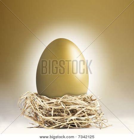 Giant Golden Nest Egg