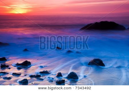 Rocky Coast Sunset
