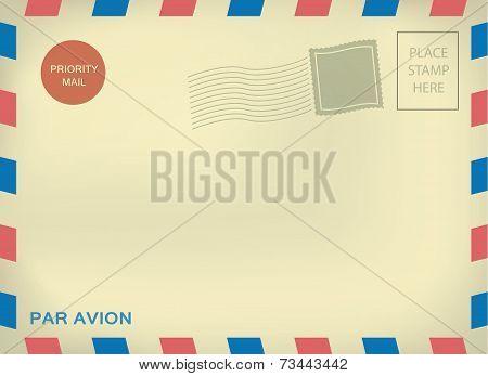 Mailing enveloper par avion on aged paper