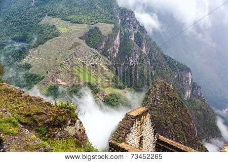 Machu Picchu And Fog