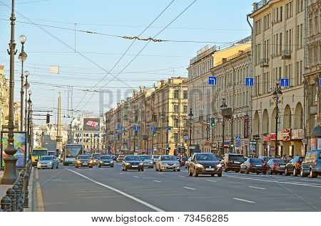 Nevsky Prospect In Saint-peterburg, Russia