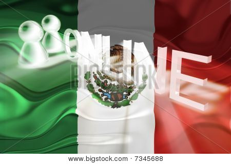 Flag Of Mexico Wavy Online