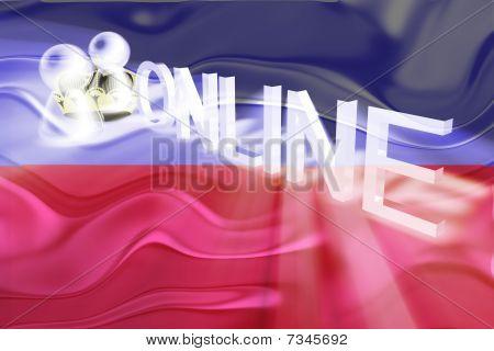 Flag Of Lichenstein Wavy Online