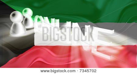 Flag Of Kuwait Wavy Online