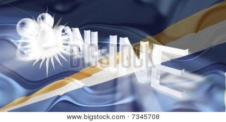 Flag Of Marshall Islands Wavy Online