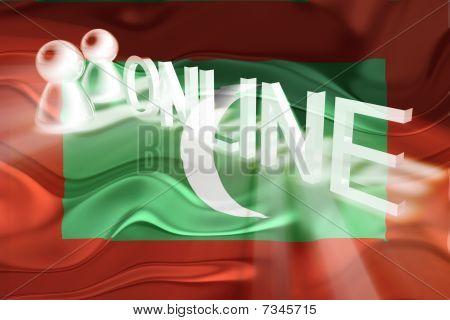 Flag Of Maldives Wavy Online