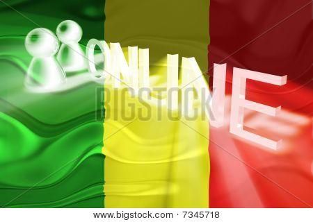 Flag Of Mali Wavy Online