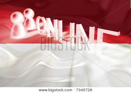 Flag Of Indonesia Wavy Online