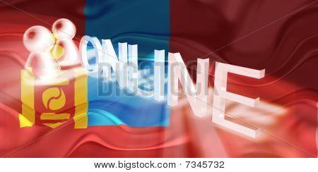 Flag Of Mongolia Wavy Online