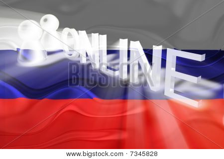 Flag Of Russia Wavy Online