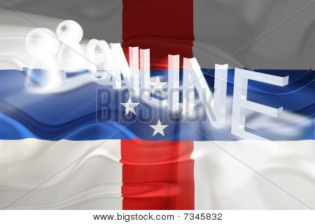 Flag Of Netherland Antilles Wavy Online
