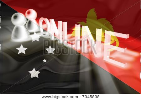Flag Of Papua New Guinea Wavy Online