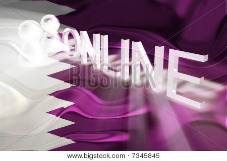 Flag Of Qatar Wavy Online