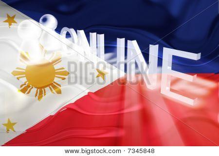Flag Of Philippines Wavy Online
