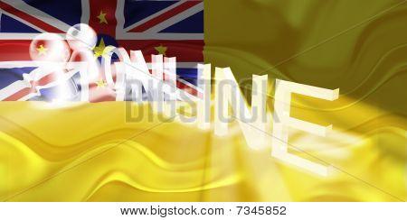 Flag Of Niue Wavy Online