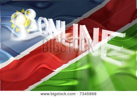 Flag Of Namibia Wavy Online