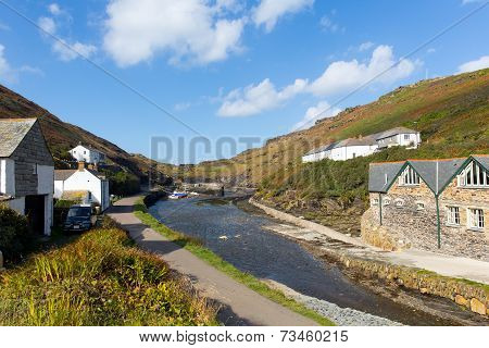 River Valency Boscastle North Cornwall England UK towards the harbour and coast