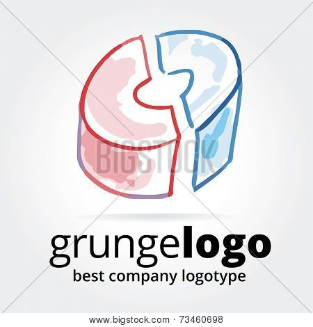 Abstract icon isolated on background for logotype concept