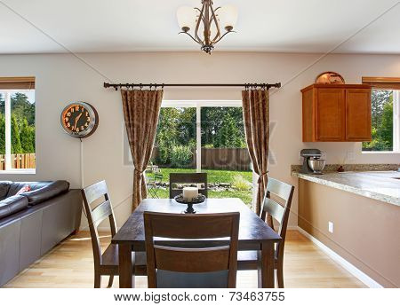 Dining Area With Walkout Patio