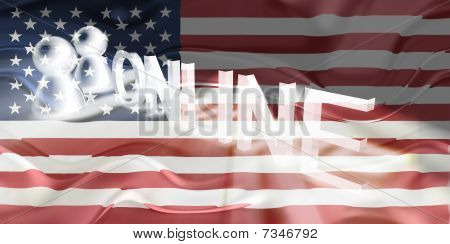 Flag Of United States Of America Wavy Online