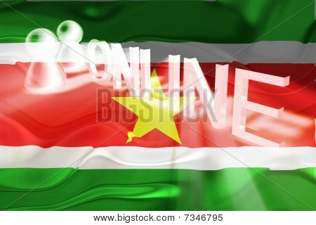 Flag Of Suriname Wavy Online