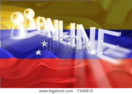 Flag Of Venezuela Wavy Online