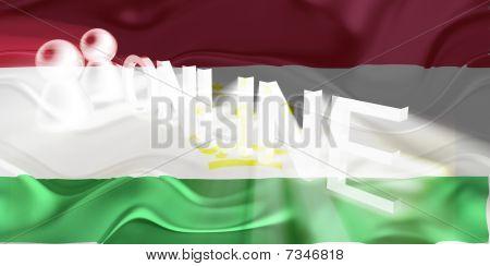 Flag Of Tajikistan Wavy Online