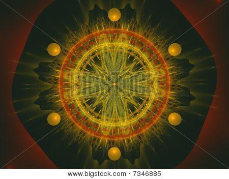 Abstract Fractal Spiritual Design Casino