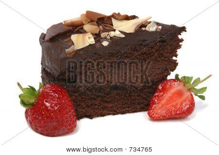 Chocolate cake and Strawberry