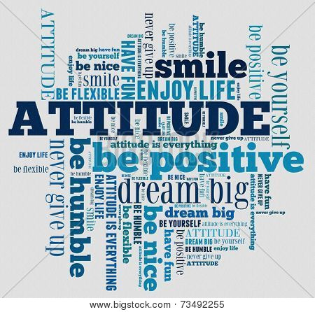 Attitude in word collage