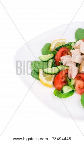 Meat salad with vegetables