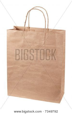 Paper Bag Isolated On A White Background.