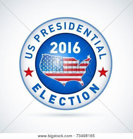 2016 USA presidential election button. EPS 10