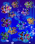 fishes swiming in ocean waters poster