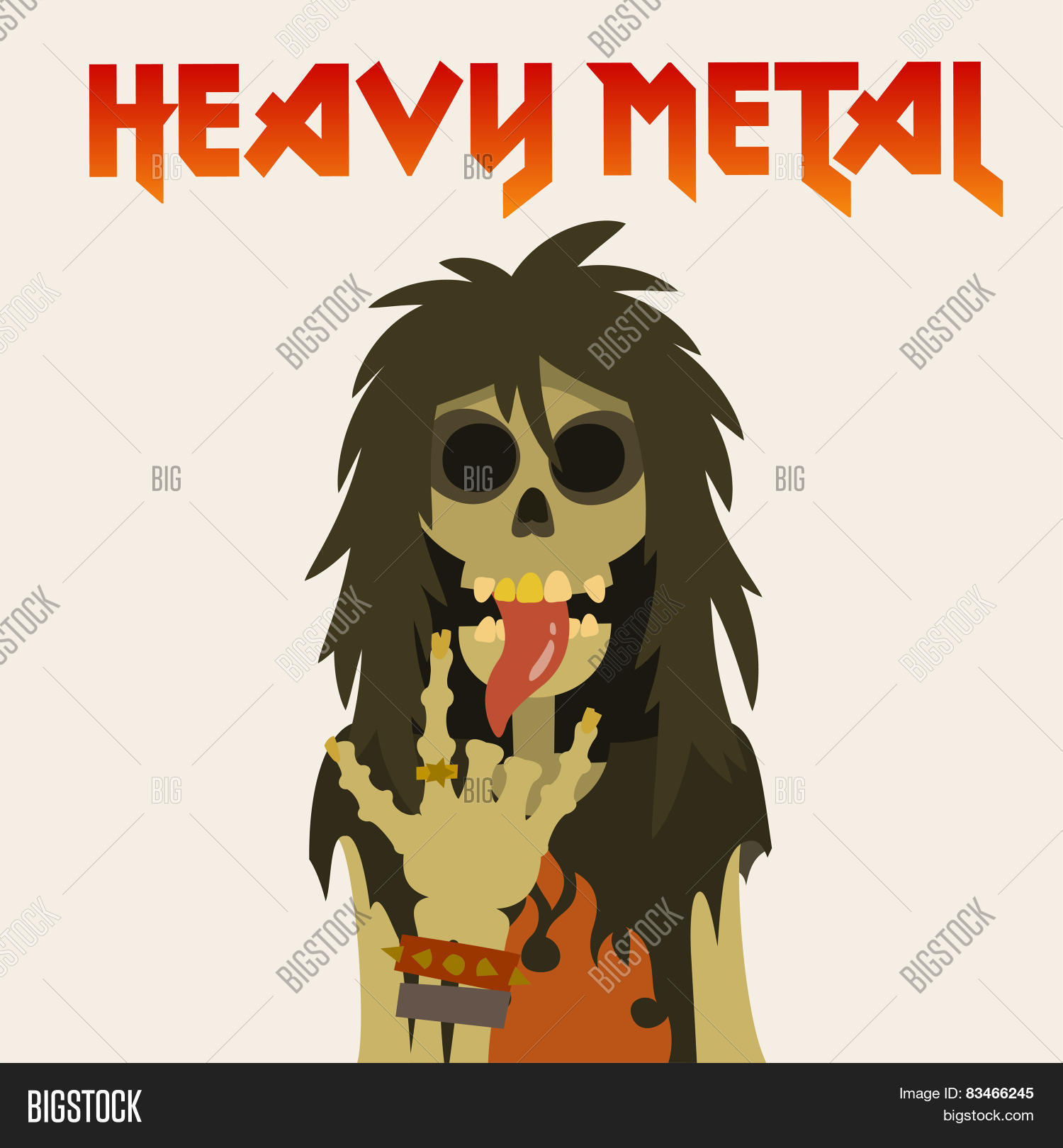 Heavy Metal Skeleton Vector Photo Free Trial Bigstock